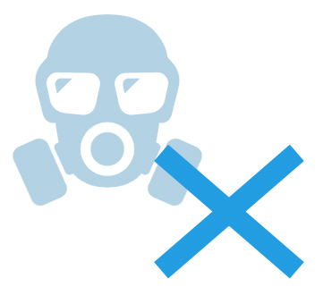 No toxic gas